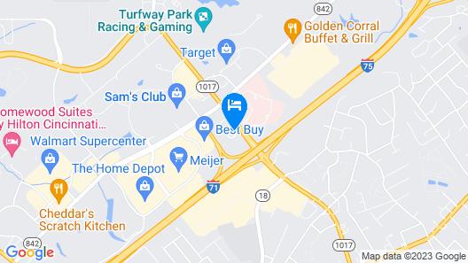 Hilton Cincinnati Airport Map