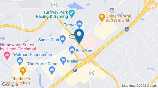 Hampton Inn Cincinnati Airport South Map