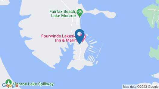 Fourwinds Lakeside Inn & Marina, BW Signature Collection Map