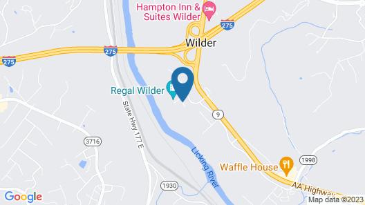 Comfort Inn & Suites Northern Kentucky Map