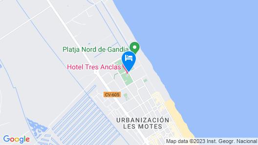 Hotel Tres Anclas Map