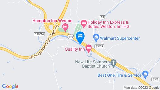 Super 8 by Wyndham Weston WV Map