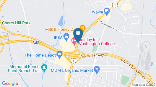 Holiday Inn Washington-College Park Map