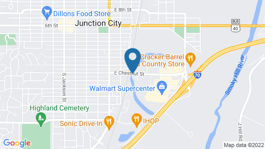 Quality Inn Junction City - Near Fort Riley Map