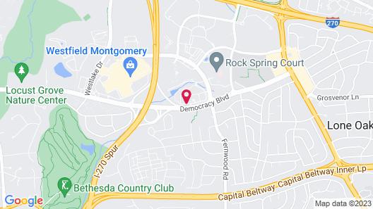 Bethesda Marriott Suites Map