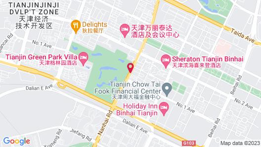 Sheraton Tianjin Binhai Hotel Map