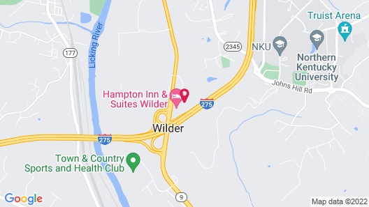 Holiday Inn Express And Suites-Cincinnati South - Wilder Map