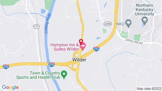 Hampton Inn & Suites Wilder Map