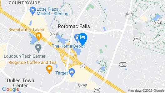 Hampton Inn Dulles - Cascades Map