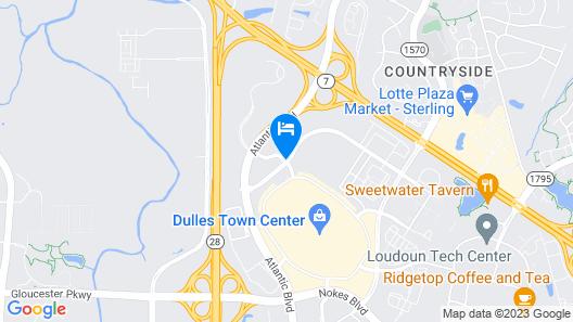 Courtyard by Marriott Dulles Town Center Map