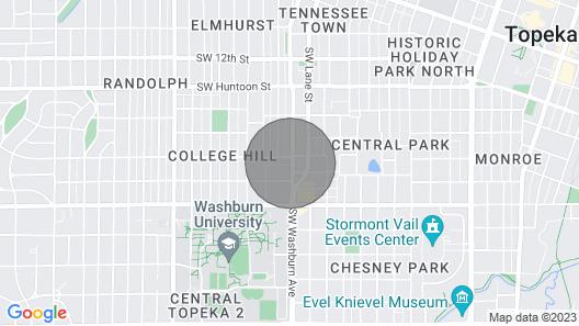 Heart of Topekawalking Dist. to Washburn Uking Bed Map