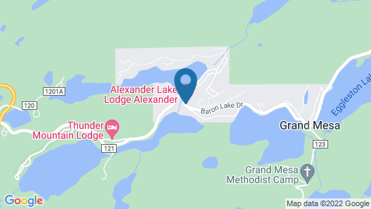 Alexander lake lodge Map