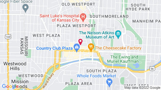 Residence Inn by Marriott Kansas City Country Club Plaza Map