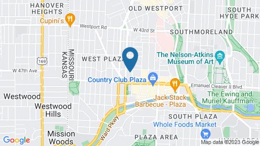Hampton Inn & Suites Kansas City-Country Club Plaza Map