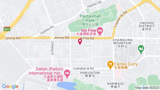 Citadines Gugeng Dalian Map