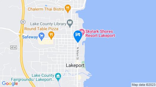 Anchorage Inn Lakeport Map