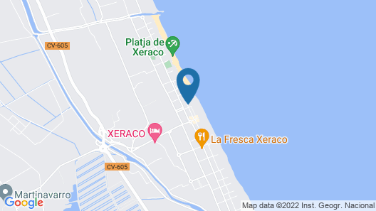CHALET IN FIRST LINE OF THE BEACH OF XERACO Map