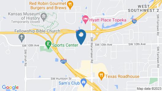 Comfort Suites Topeka Northwest Map