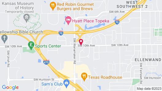Super 8 by Wyndham Topeka/Wanamaker RD/I-70 Map