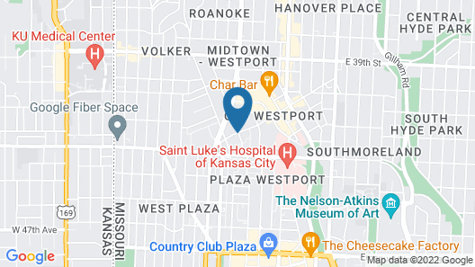 816 Hotel Westport Country Club Plaza, Ascend Hotel Collection Map