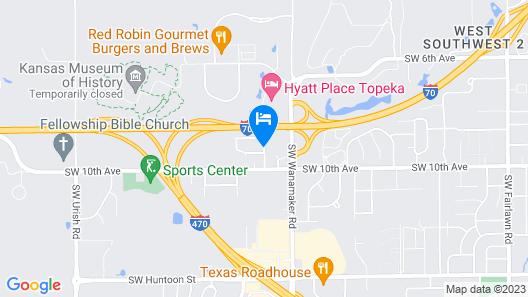 Clubhouse Inn Topeka Map
