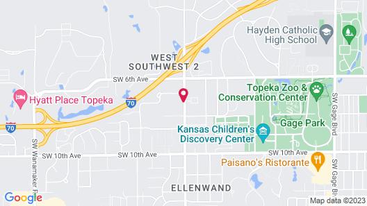 Motel 6 Topeka, KS - Northwest Map
