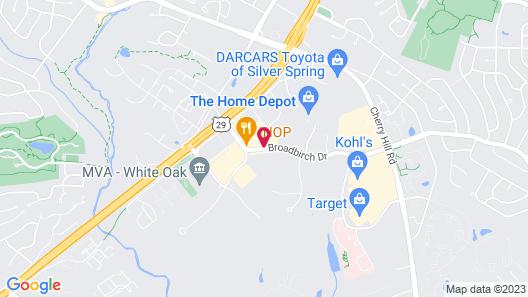 Hilton Garden Inn Silver Spring White Oak Map