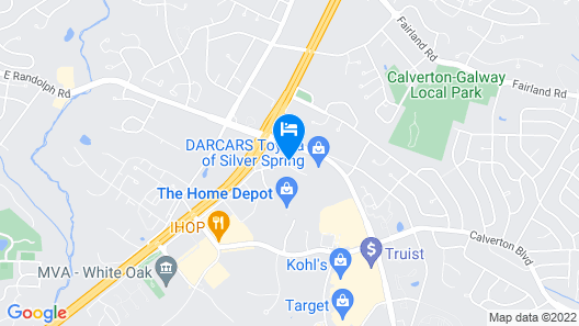 Courtyard by Marriott Silver Spring North/White Oak Map