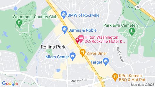 Hilton Washington DC/Rockville Executive Meeting Center Map