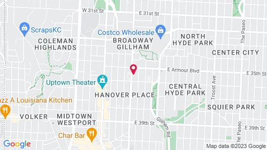 Quality Inn & Suites Kansas City Downtown Map