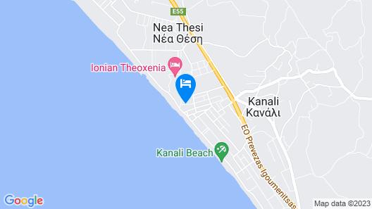 Katerina Hotel Apartments Map