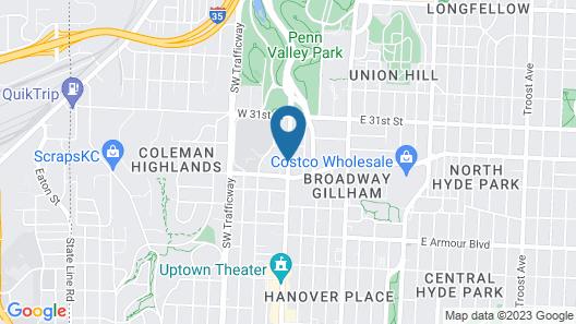 Days Inn & Suites by Wyndham Kansas City Downtown Map