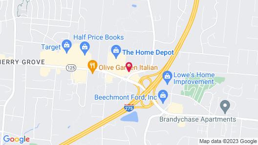 Red Roof Inn Cincinnati East - Beechmont Map