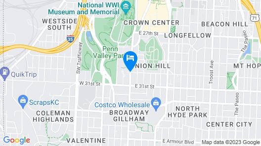Fairfield Inn Kansas City Downtown/Union Hill by Marriott Map