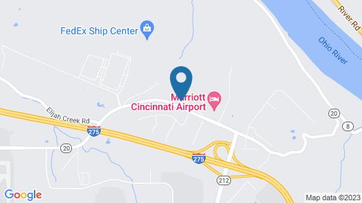 Comfort Suites Cincinnati Airport Map