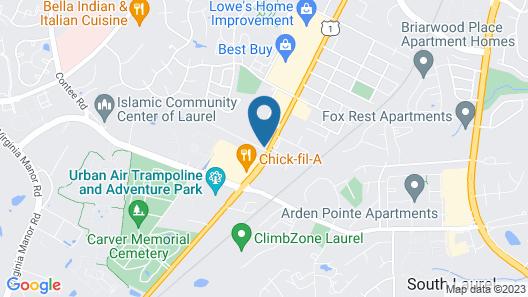 Hampton Inn Laurel (Fort Meade Area) Map