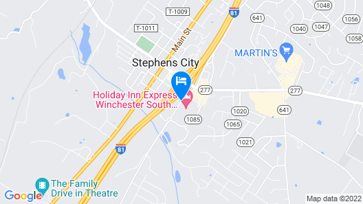 Holiday Inn Express Winchester South-Stephens City Map