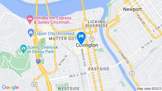 Hotel Covington Cincinnati Riverfront Map