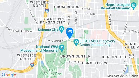 The Westin Kansas City at Crown Center Map
