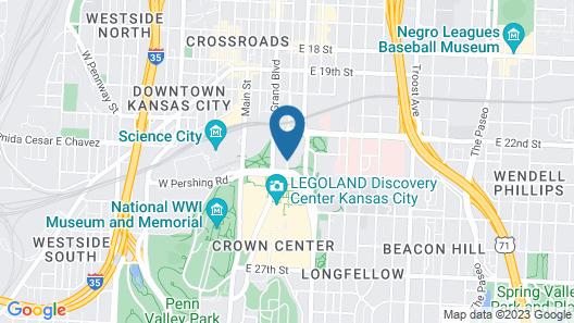 Sheraton Kansas City Hotel at Crown Center Map