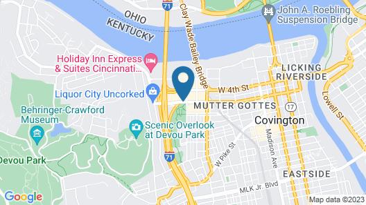Radisson Hotel Cincinnati Riverfront Map
