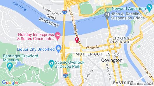 Courtyard by Marriott Cincinnati-Covington Map