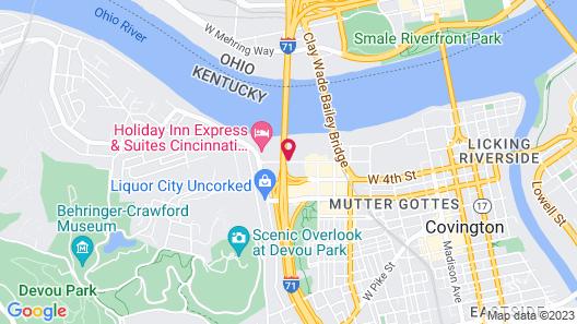 Extended Stay America Cincinnati - Covington Map