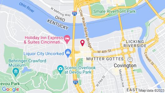 Holiday Inn Cincinnati-Riverfront, an IHG Hotel Map