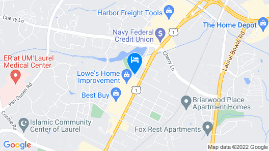 Holiday Inn Express Hotel and Suites Laurel, an IHG Hotel Map