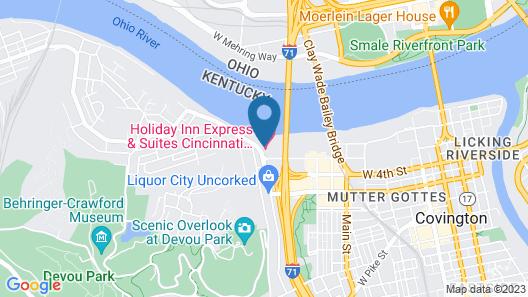 Holiday Inn Express & Suites Cincinnati Riverfront, an IHG Hotel Map
