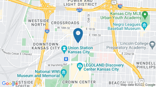 Hotel Indigo Kansas City - The Crossroads, an IHG Hotel Map