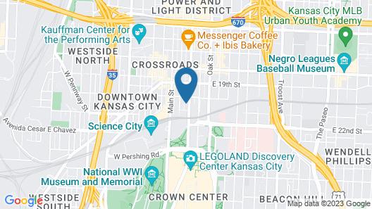Hotel Indigo Kansas City - The Crossroads Map