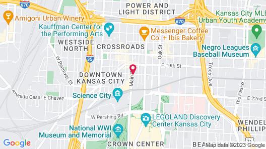 Home2 Suites by Hilton Kansas City Downtown Map