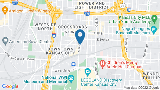 Home2 Suites by Hilton Kansas City Downtown Map